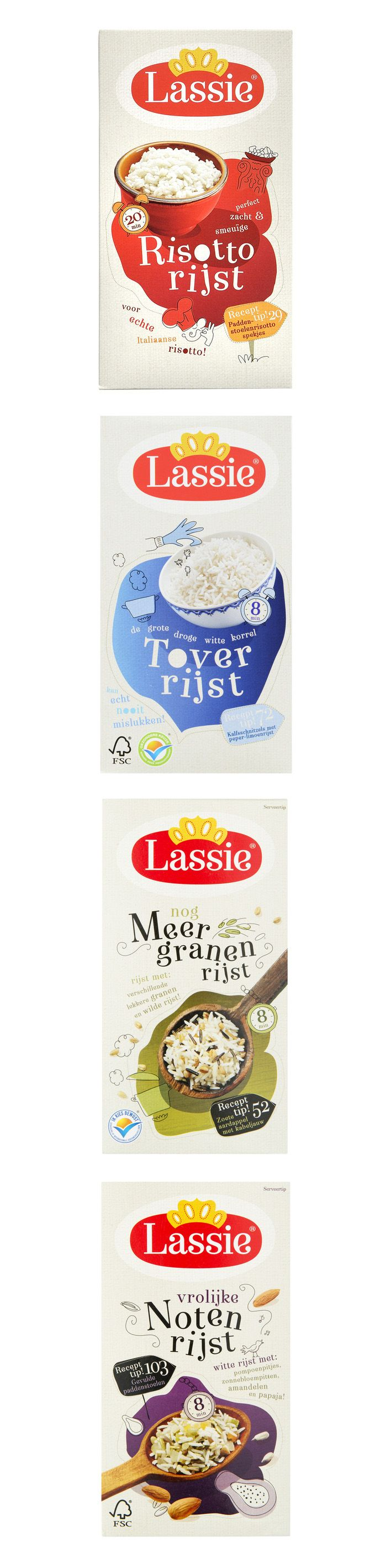 Lassie Rice, packaging by Proud Design, Amsterdam
