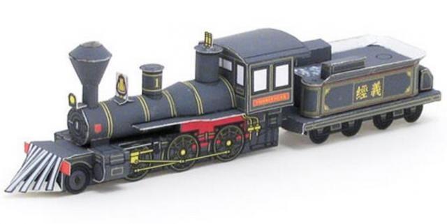1880 s steam locomotive yoshitsune paper model by. Black Bedroom Furniture Sets. Home Design Ideas