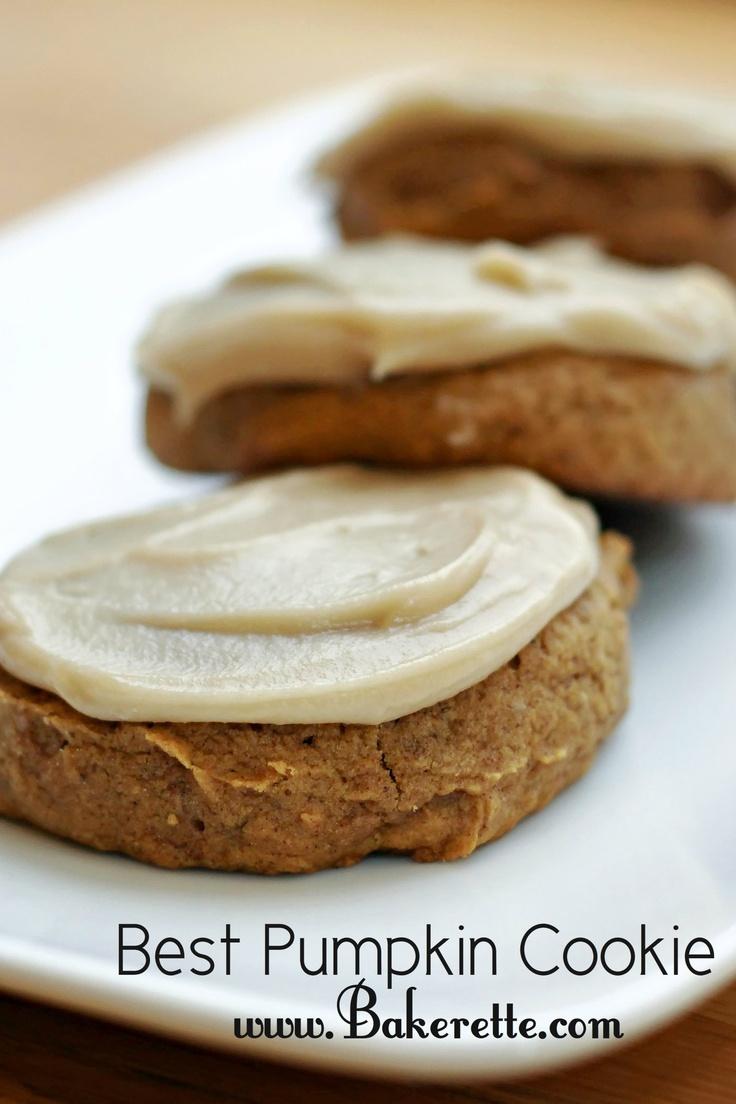 The Best Pumpkin Cookie by bakerette #recipes #cookies #pumpkin