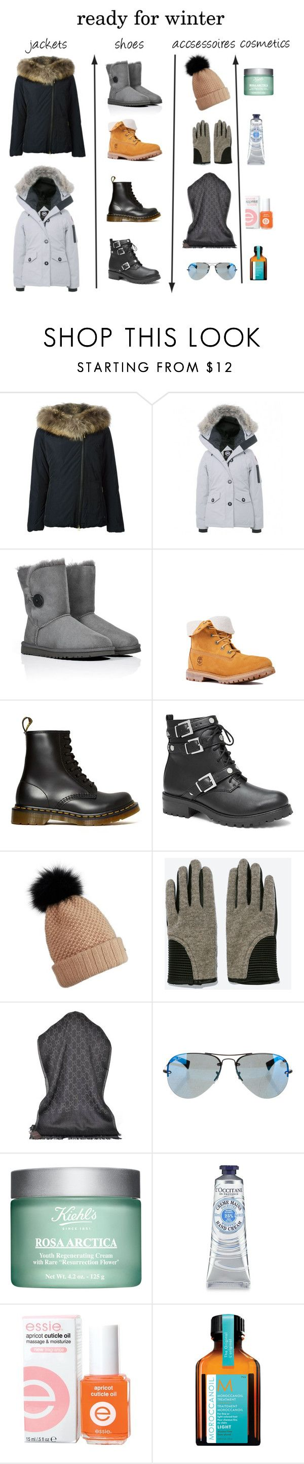 """""""ready for winter"""" by elinvar ❤ liked on Polyvore featuring Woolrich, Canada Goose, UGG Australia, Timberland, Dr. Martens, Victoria's Secret, Burberry, Zara, Gucci and Ray-Ban"""