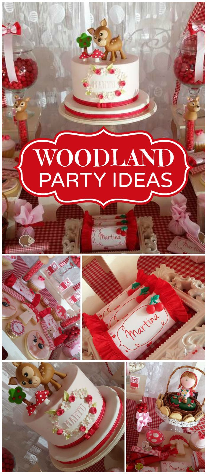 Little Red Riding Hood is at this cute woodland party! See more party planning ideas at CatchMyParty.com!