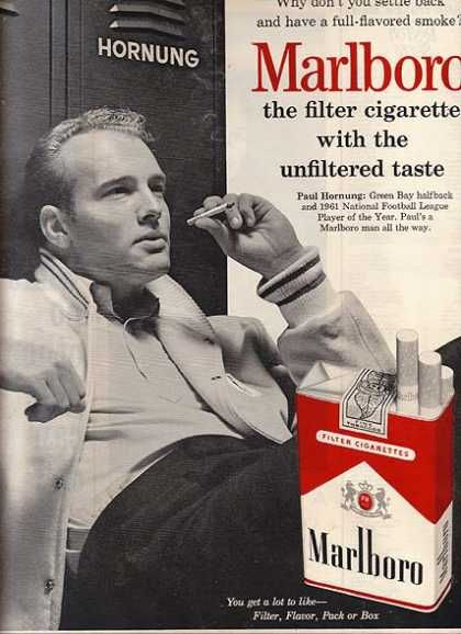 Vintage advertisement for Marlboro cigarettes, 1960s