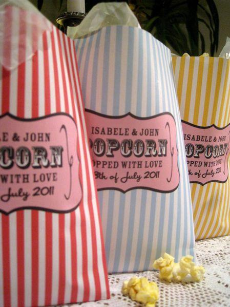 Personalised Popcorn Bags Photos