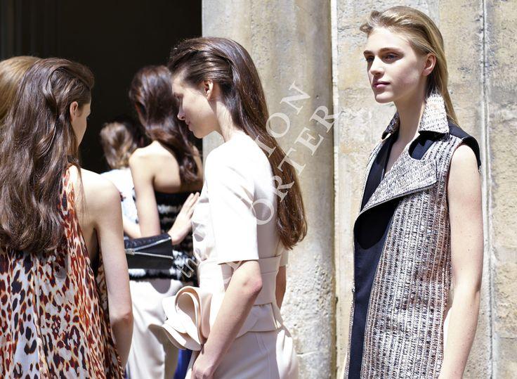 Hedvig Palm at Bouchra Jarrar Backstage | Haute Couture FW14-15 | Ph. Antonello Trio
