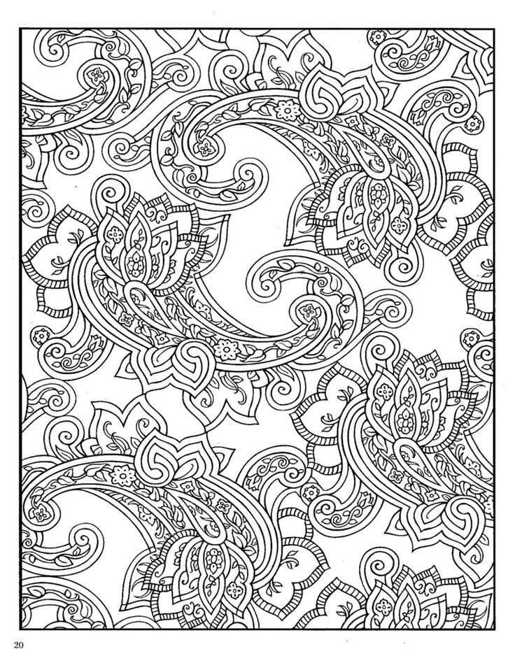 free paisley adult coloring pages - photo#7