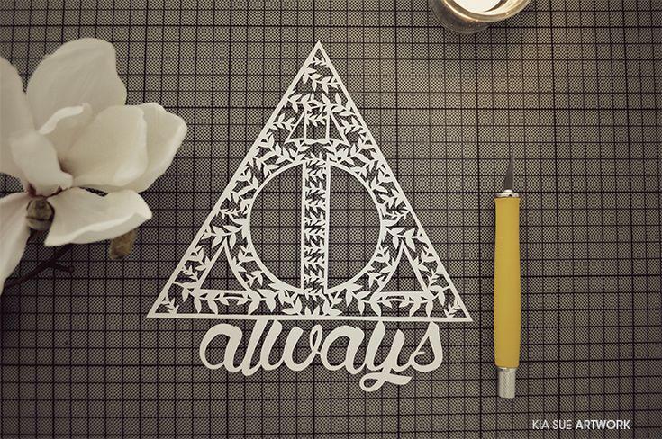 always // harry potter papercut by KiaSuee on deviantART