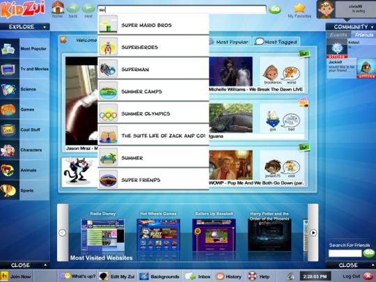 KidZui - The Internet for Kids. Get a graphical Web browser for kids.