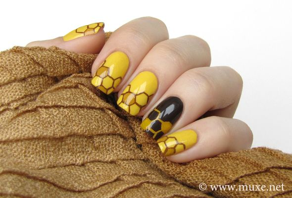 Honey Nails | from Mari's Nail Blog