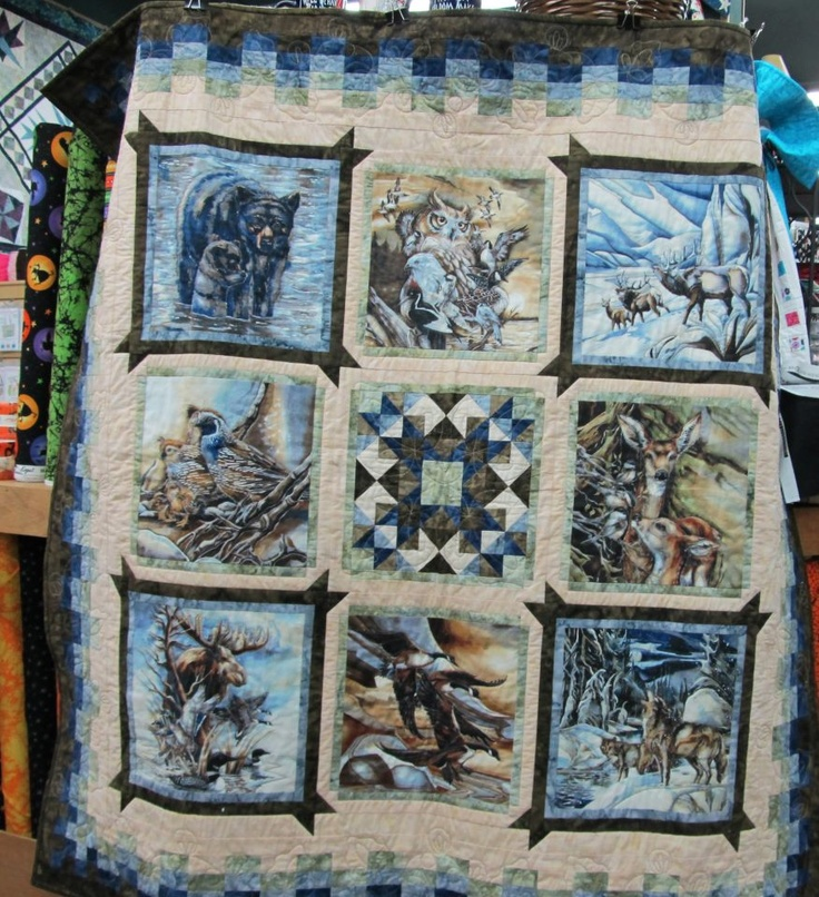 271 Best Images About Eagle Wolves Deer And Nature Quilts