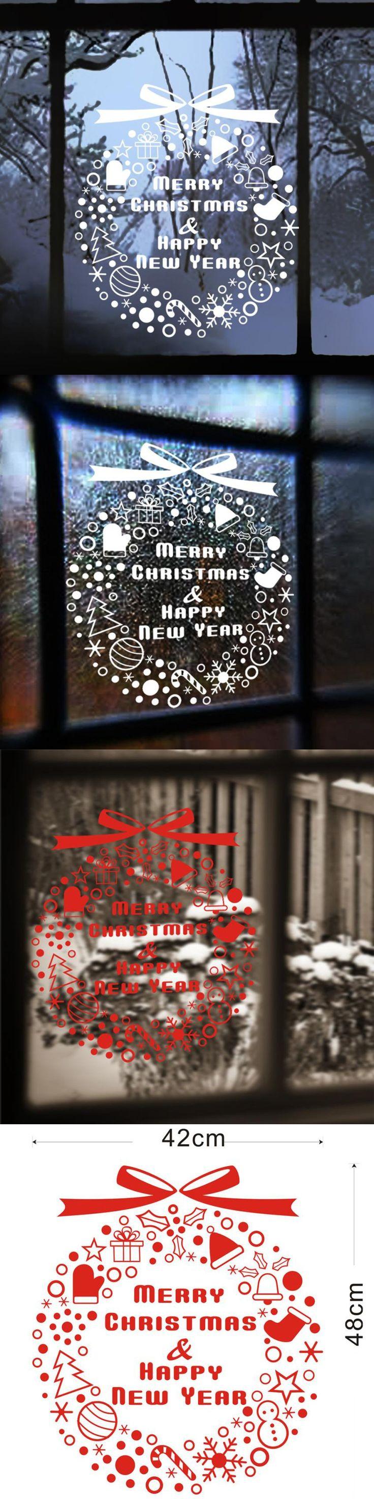 Christmas Decoration Articulos De Navidad Decal Window Stickers Home Decor Enfeites De Natal Christmas Decorations For Home $3.15