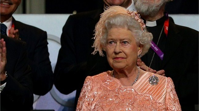 London 2012 Opening Ceremony > LONDON, ENGLAND - JULY 27: Queen Elizabeth II attends the Opening Ceremony of the London 2012 Olympic Games at the Olympic Stadium on July 27, 2012 in London, England. (Photo by Cameron Spencer/Getty Images)
