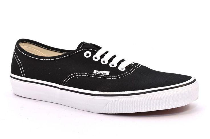 VANS AUTHENTIC VN000EE3BLK NERO Bianco Scarpe Sneakers Unisex Lacci Uomo Donna