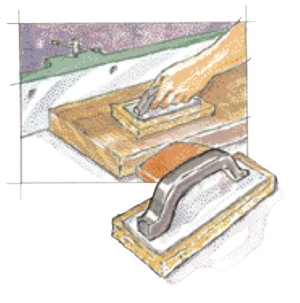 For pushing heavy stock through a saw or jointer, I find that a rubber float (used for applying grout) works best.