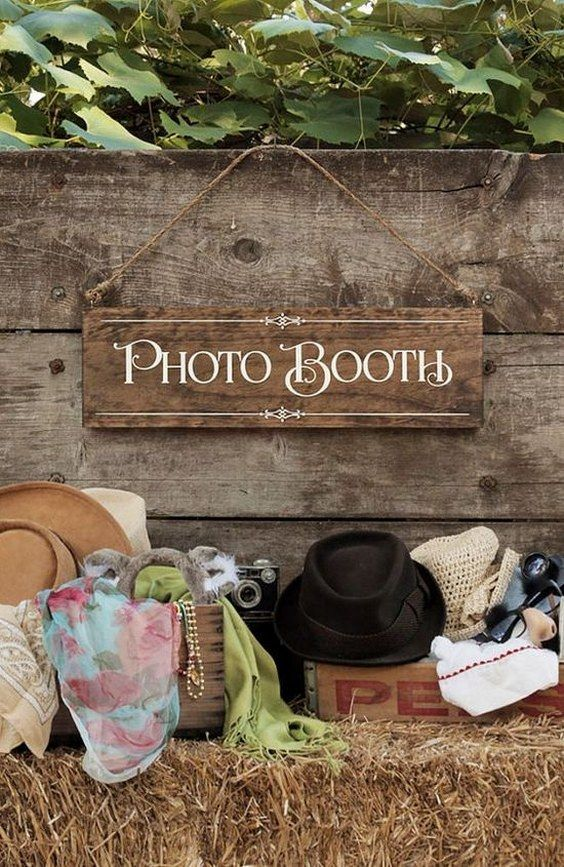 Rustic Chic Wedding Photo Booth Wood Photo by UrbanFringeLiving / http://www.deerpearlflowers.com/brilliant-wedding-photo-booth-ideas/