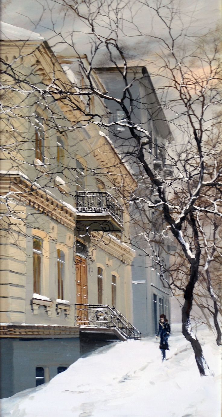 Старинный дом №13 на ул. Уборевича (ранее ул. Суйфунская), Владивосток. Картина Юрия Редозубова