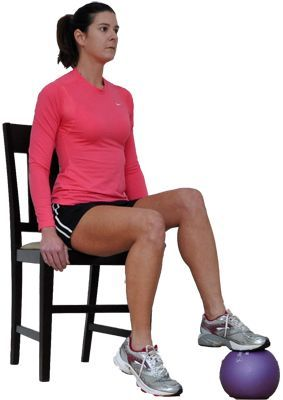 Try This Seated Total Body Workout for Overweight and Obese Exercisers: Seated Ball Taps