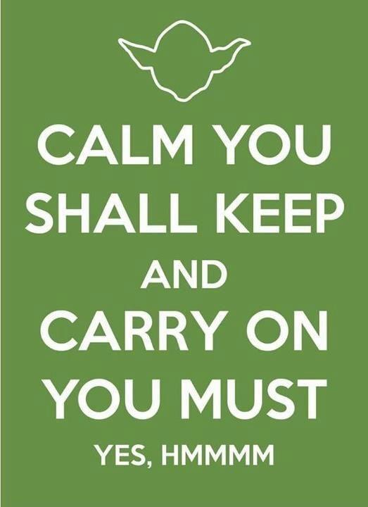 I'm trying, Master Yoda. I really am trying.