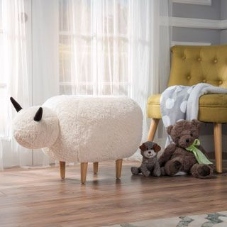 If you are looking for something unique to liven up your home, then look no further than this Pearcy sheep ottoman by Christopher Knight Home. Perfect for a modern, stylish living room, or your kids b