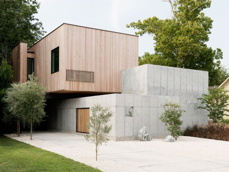 concrete box house influenced by japanese design - Modernist House Design