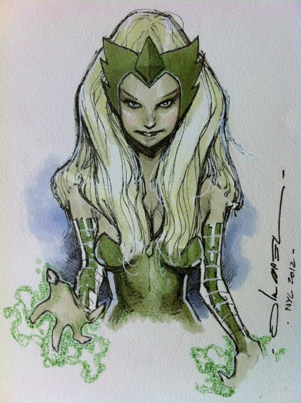 Enchantress by Coipel, in Lenny Messina's Oliver Coipel Comic Art Gallery Room