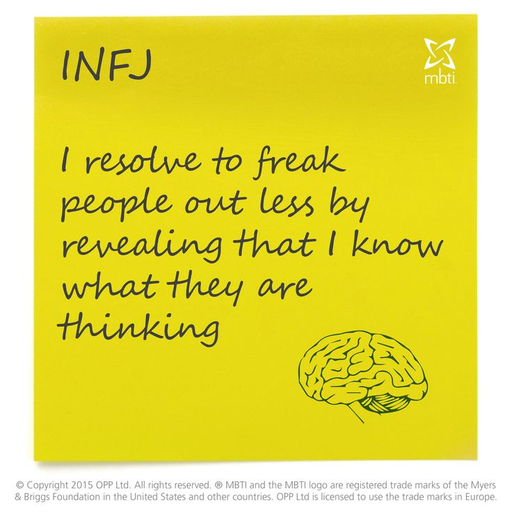 Would could the New Year's Resolution for INFJ be? Maybe this...