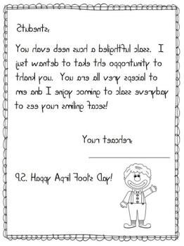 FREE April Fools Day Prank Letters to Students and Parents ...