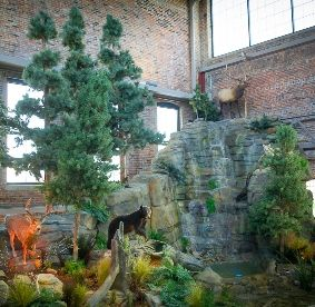 The DNR Outdoor Adventure Center.  It's in downtown Detroit.  INSIDE A BUILDING.  Can someone explain this to me please?