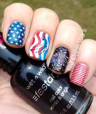 Happy Fourth of July!!!  #nails #nailart