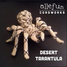 Allefun Cordworks have made a picture tutorial on how to make an tarantula (Spider)https://www.facebook.com/allefuncordworks