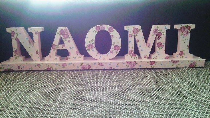 Decor letters , girl name made with decoupage