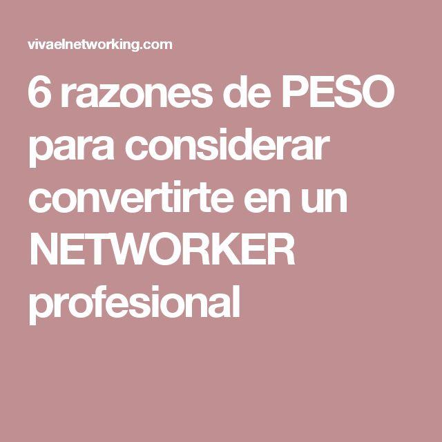 6 razones de PESO para considerar convertirte en un NETWORKER profesional