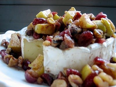the best appetizer I ever made and it lasted 5 minutes.. Bakes Brie with apples, cranberries etc.