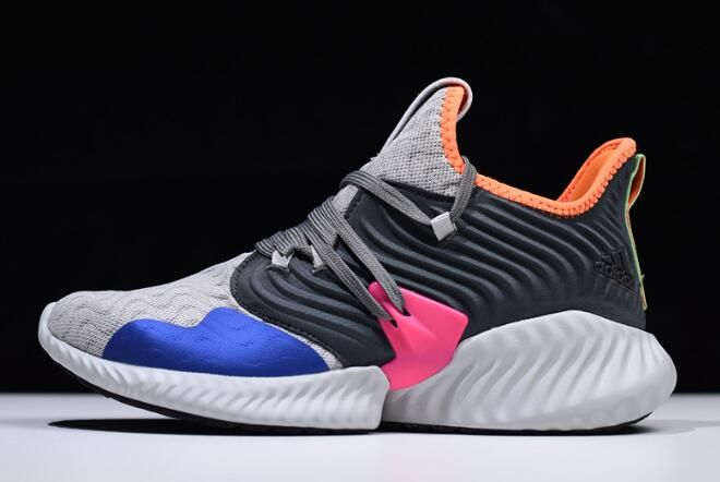 finest selection e398f f54f1 adidas AlphaBounce Instinct Clima Grey TwoHi Res Orange-Trace Blue DB2731