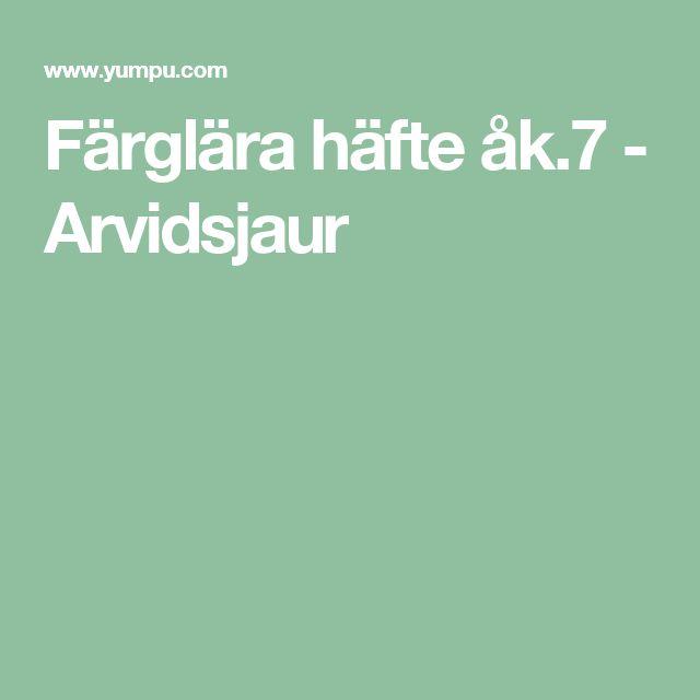 Färglära häfte åk.7 - Arvidsjaur