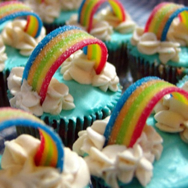 Someday I will make these. I will add some tiny unicorns on top too!