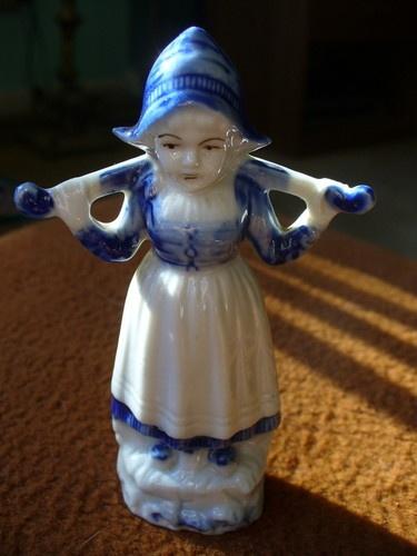 Delft Pottery Dutch Girl Figurine 2787 Holland Ceramic ...