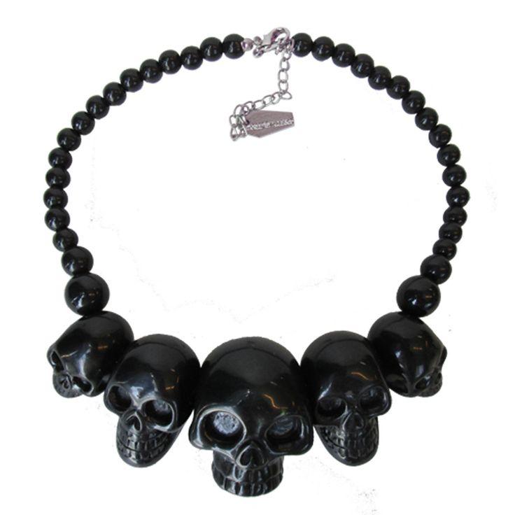 Black Skulls Necklace