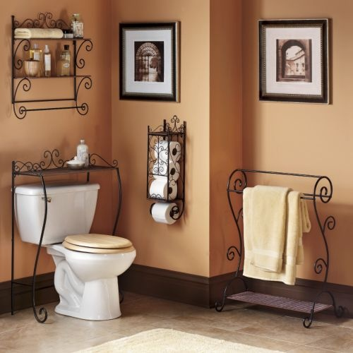 Inspirational Blue and Brown Bathroom Decorating Ideas