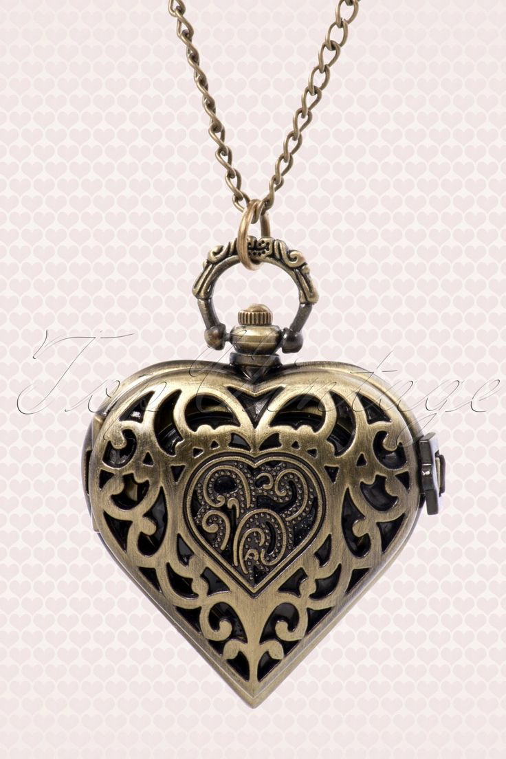 Montre Coeur zakhorloge bronze ketting