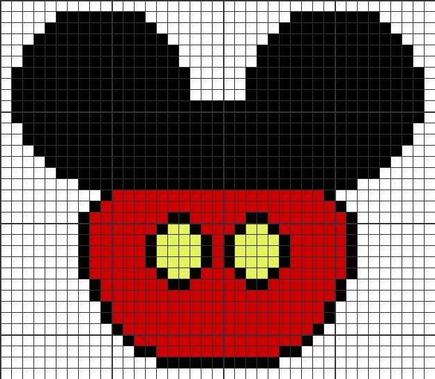 Mickey Mouse perfil traje punto en cruz