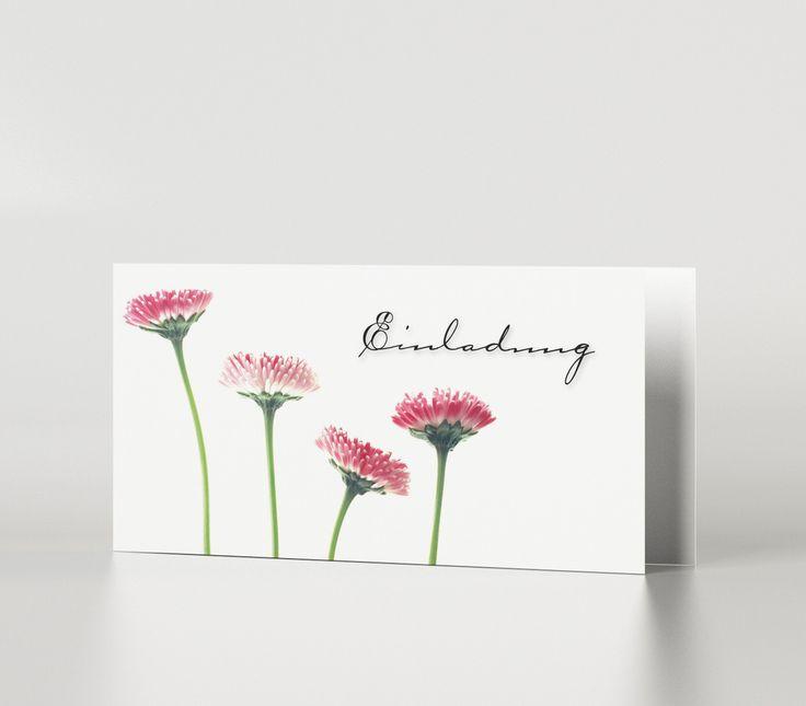 Einladungskarte Blumen