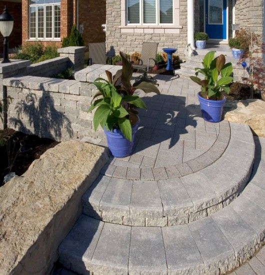 Unilock Paver Steps And Entrance With Series 3000
