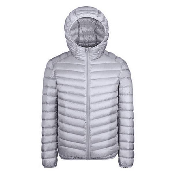 d4636318f Winter Jacket Men New Couples Coats Ultra-light Hooded Slim Fit ...