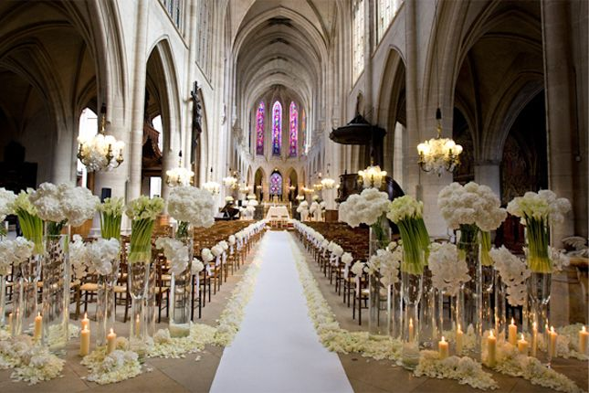 white wedding decoration venue pictures | Looking for ceremony decor inspiration? Then stop by the following ...