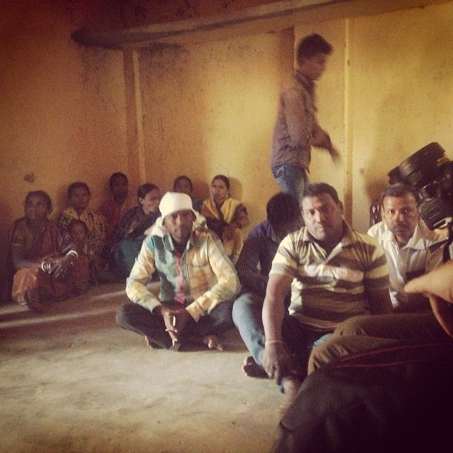 The whole village of Vijamal gathering to talk to me about how #fairtrade and #organic cotton has influenced their lives . mukakids.com