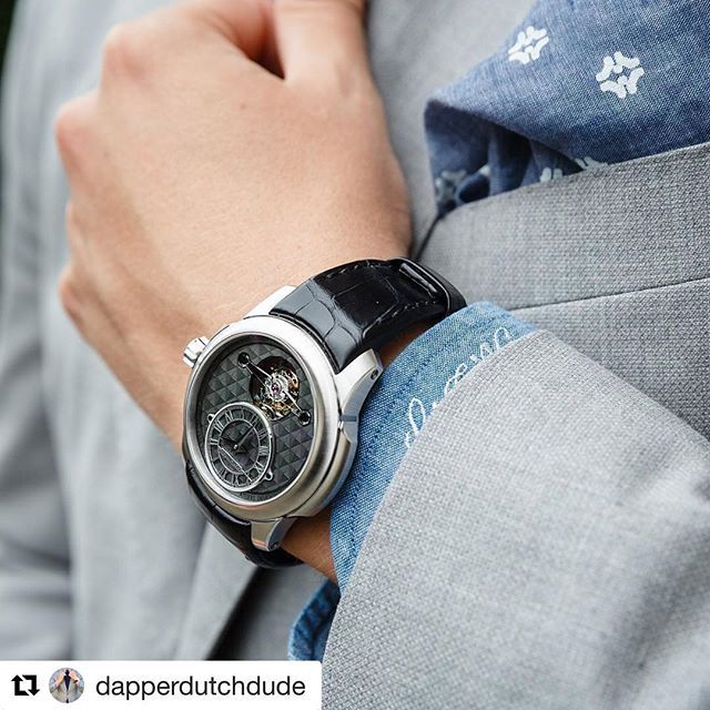 Repost from @dapperdutchdude Beautiful picture of the Tourbillon Oculus 1297…