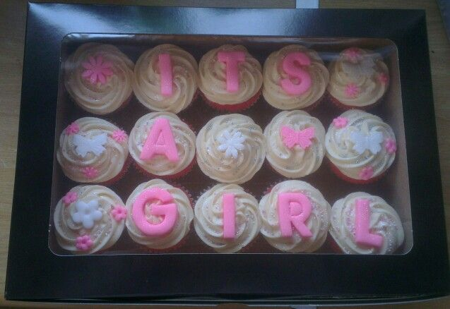 'Its a girl' baby shower cupcakes