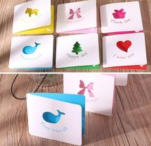 50pcs/lot South Korean creative color stereoscopic folding hollow out holiday wishes CARDS little CARDS blank CARDS S20Di30(China (Mainland))