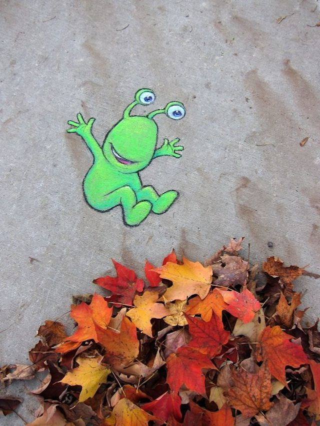 STREET ART UTOPIA » We declare the world as our canvasCalk Art by David Zinn 4 » STREET ART UTOPIA