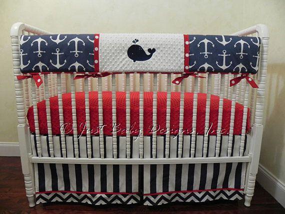 Nautical Crib Bedding Set Gilbert Baby Boy by BabyBeddingbyJBD